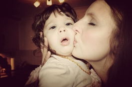 Mummy kissing Lula