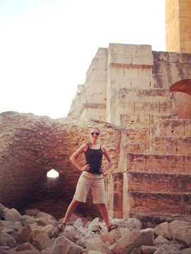 Jenny Standing In Ruins